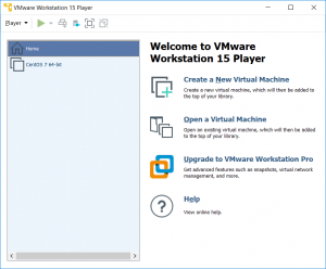 welcome to vmware create new vm